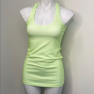 LULULEMON racerback tank top green & purple S